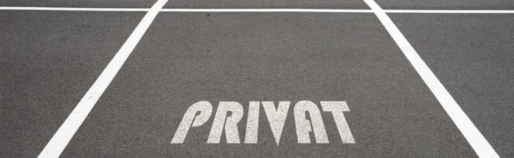 Unbefugtes Parken auf Privatgrundstücken